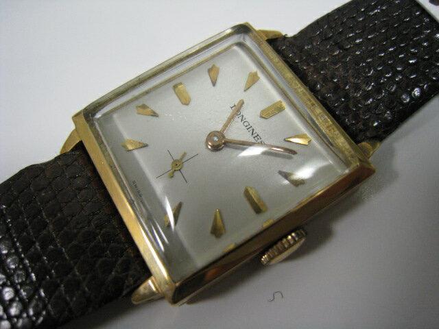 ロンジンK18手巻き、メンズ時計【】