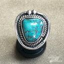 ショッピングレディース インディアンジュエリー ナバホ族 リング #14 シルバー ターコイズ Indian jewelry - Ring - ネバダグリーン 鉱山 メンズ レディース ギフト プレゼント おすすめ
