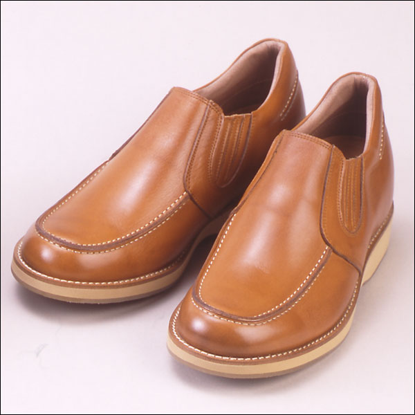 No. 523 casual up shoes 5.5cm up cowhide casual up (slip-ons side Gore)