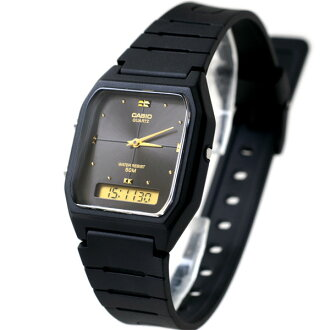 CASIO overseas モデルアナデジ AW-48HE-1AV black