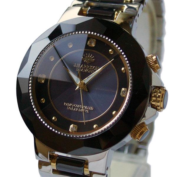 [ジョン・ハリソン]John Harrison セラミックダイヤソーラー電波メンズ腕時計 JH-024MBB