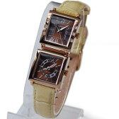 [オレオール]AUREOLE デュアルタイム レディース腕時計 SW-570L-4 ブラウン文字盤/ベルトカラー:ベージュ
