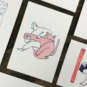 水縞 ことわざ動物園 ポストカード