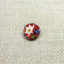 knoflik antique glass button edelweiss