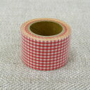Gingham cross tape 30mm width (red)