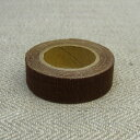 Linen cross tape 15mm width (milk chocolate)
