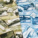 【生地 布】綿100%のブロード生地!東海道五十三次柄 和柄 かっこいい  国産 綿100% 日本製 メール便 小物入れ、バッグなどの袋物 エプロン】