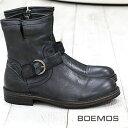 10/6新作入荷 正規品 BOEMOS 1110 NERO ボエモス メンズ エンジニア ブーツ ブラック mens boots 【made in ITALY】