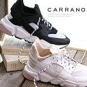 ショッピングNO 【★期間限定特別価格★】【あす楽】 CARRANO sneaker スニーカー 605000 WH/C(ホワイト) BL/C(ブラック) カラーノ レザー 靴 レディース