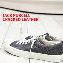 【あす楽】 【 セール sale 】 【 魅力のクラッキング レザー 】 CONVERSE JACK PURCELL CRACKED LEATHER BLACK コンバース ジャックパーセル クラックレザー ブラック メンズ 【 ベルクロ とは違う大人な雰囲気 】