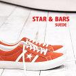 コンバース スター&バーズ スエード 限定 オレンジ/ホワイト  CONVERSE STAR & BARS SUEDE レザー 【 ONE STAR ワンスター ジャックスター に並ぶ人気 】