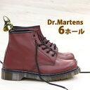 【 ポイント10倍 】 【 純正ケア品のオマケ付 】 正規品 Dr.Martens マーチン 6ホール 10064600 ドクターマーチン チェリーレッド ブーツ boots メンズ レディース 【 3ホール 8ホール チェルシー サイドゴア に並ぶ人気 】