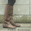 ◇人気のビンテージ仕上げ◇ FABIO RUSCONI boots 98801 ファビオルスコーニ ロングブーツ ブラウン 【 ファビオ ルスコーニ イタリア製 ブーツ 】