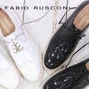 FABIO RUSCONI 2879 レディース 靴 NERO(ブラック) BIANCO(ホワイト) ファビオ ルスコーニ シューズ レースアップ フラット 【...