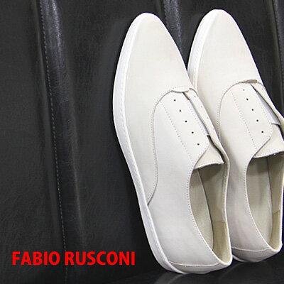 【 セール sale 】 FABIO RUSCONI sneaker 2463  ファビオ ルスコーニ フラット スリッポン スニーカー ポインテッド