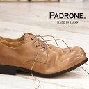 2/24再入荷 【 ポイント10倍 】【 ケア品のオマケ付 】 【 正規取扱店 】 PADRONE 靴 DERBY PLAIN TOE SHOES JACK PU7358-2001-11C ベージュ パドローネ メンズ