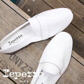 【 セール sale 】 国内正規品 repetto MICHAEL BLANC レペット マイケル 靴 エナメル スリッポン Blanc