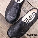 【期間限定特別価格】 【あす楽】【 日本正規取扱店 】 trippen 靴 WORMS-LUX-61 BLK-BK トリッペン レディース スリッポン