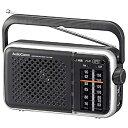 【中古】オーム電機 (電池節約タイプ)AM/FMポータブルラジオ(乾電池・家庭用両電源対応/ブラック) RAD-T450N