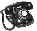 【中古】電電公社 4号A 自動式卓上電話機 (黒電話)
