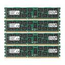 【中古】キングストン Kingston サーバー&ワークステーション用メモリ DDR3-1333(PC3-10600) 16GB×4枚 CL9 ECC Registered DIMM Dual Rank x4 KVR13R9D4