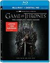 【中古】Game of Thrones: The Complete First Season Blu-ray