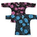 鯉口シャツ 祭り用品 鯉口【大薔薇】【大バラ】ピンク ブルー 大人用小〜特大