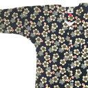 ショッピング女性 【あす楽】鯉口シャツ 祭り用品 【女性用大サイズ 紺にベージュ桜】