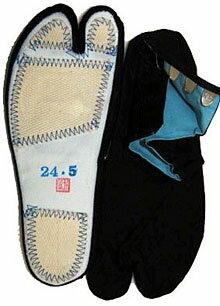 【遠州横須賀の藍染足袋】晒裏(4枚コハゼ)サイズ28cm