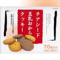 Thiaseed soybean milk bean-curd refuse cookie (plane & cocoa)