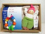 【送料無料】木のおもちゃ・オズオリジナル赤ちゃんセット!(ラトル+布製お人形)ご出産のお祝いにおすすめ!