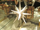 白い星 小  立体星  クリスマスオーナメント 木製 エルツ ザイフェン クリスマスツリー オーナメント ドイツ