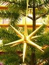 金の星(小)クリスマスオーナメント 木製 エルツ ザイフェン クリスマスツリー オーナメント ドイツ ニキティキ