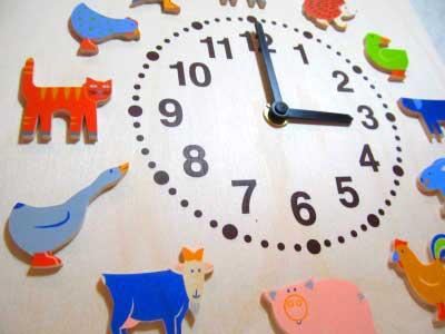 ヘラー社時計・ヤーン動物 木のおもちゃ【送料無料】