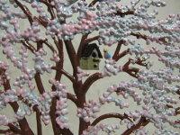 【11月17日9:59までポイント10倍】錫スタンドウィルヘルム・シュヴァイツアーピンクのお花の木(春)