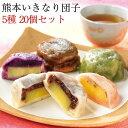 芋屋長兵衛 熊本名物「いきなり団子」20個セット(プレーン・さくら・よもぎ・紫芋・黒糖の5種類)