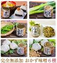 おかず味噌6種(からうま味噌、ねぎ味噌、青とうがらし味噌、生姜味噌、にんにく味噌、ゴロゴロにんにく味噌)