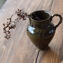 中田雄一 ●ピッチャー(ブラックオリーブ)● 水差し 片口 花器 花瓶 フラワーベース