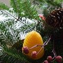 ハチ密の森キャンドル ハニカムスケップ はちのす型国産蜜ろう
