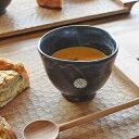 ●金京徳 印花紋三角カップ 黒● フリーカップ 黒化粧