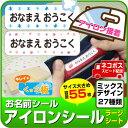 お名前アイロンシール 【ラージ 容量55枚】 【ミックスデザ...