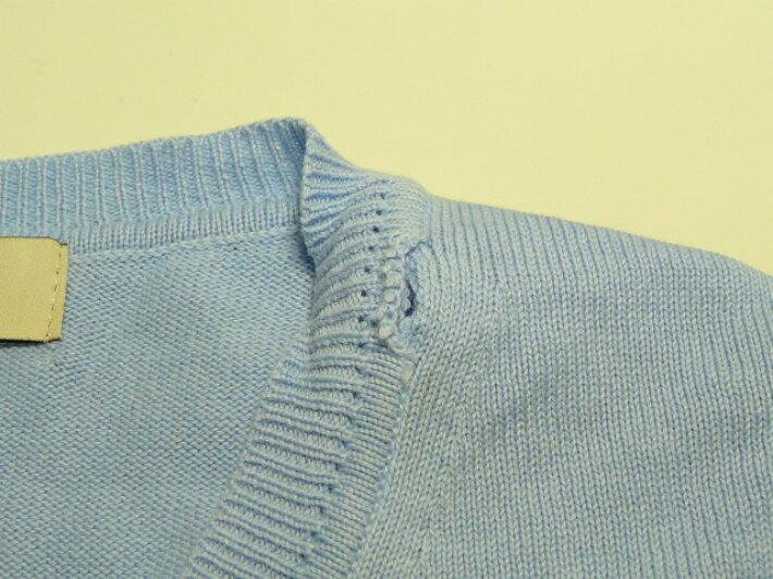 ニット修理 セーター修理 衿ほつれお直し リンキング手直し 6センチ〜8センチまで