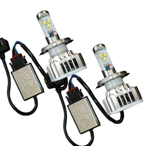 【送料無料】【即納】超小型コントロールボックス採用!H4Hi/LoThreeChipCREELEDヘッドライト