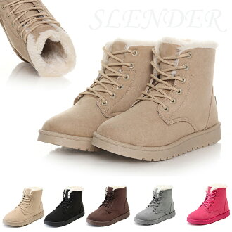 N-噸跳動的冬季麂皮靴子靴子靴子半長筒高筒靴婦女 ux063