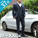 スーツ メンズ オシャレ セットアップ メンズ メンズファッション 秋 冬 スリーピース ウィンドウペン チェック テーパード ネイビー M〜XXL 股下78cm ビジカジ フォーマル ドレス カジュアル おしゃれウィンドウペンチェック3ピースセットアップ(JI-SUITS3A)