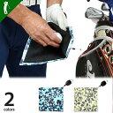ゴルフ ボール拭き 迷彩 カラビナ ワイヤー付き 便利 グッズ 2WAY クロスファイバー デザイン ゴルフ用品 小物カラビナ&ワイヤー付き迷彩柄ボール拭き(IF-GF0119)
