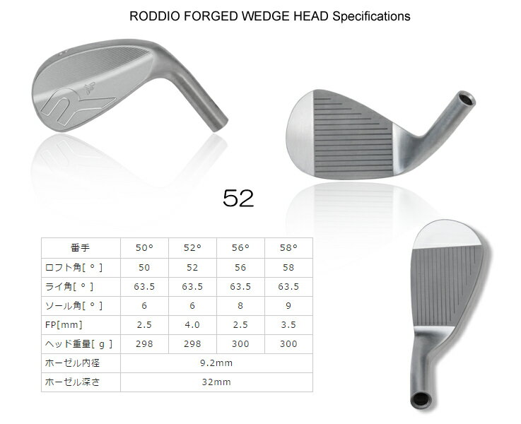 【カスタムオーダー】Roddio Forged Wedge+KBS Tour Hi-Rev2.0