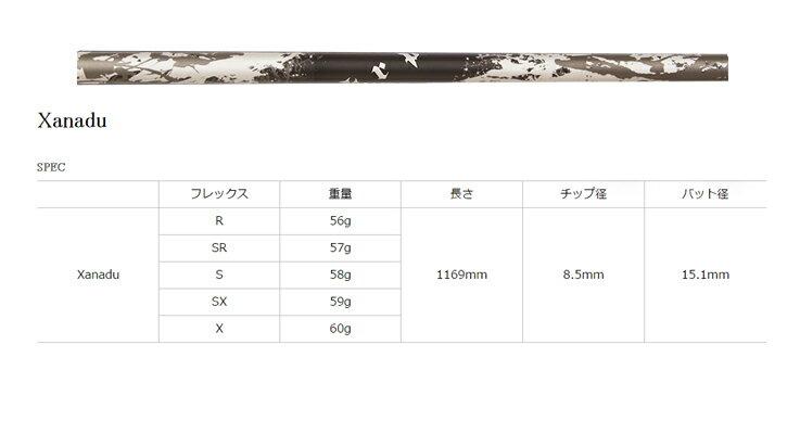TRPX Xanadu(ザナドゥ) ウッド用 シャフト(リシャフト工賃込み)