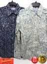 ★28%OFFセール★ 「Rockmount(ロックマウント)」 メンズ ウエスタンシャツ 小花柄 フラワー 裏地 スナップボタン ペンホルダー 【ナチュラル】 【ネイビー】 カスタムフィット USA アメリカ ウエスタン カントリー ダンス 乗馬 アメカジ ジーンズ 衣装 上野 アメ横 送料無料