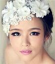 【普通郵便 送料無料】ウェディング ヘッドドレス お花とパールでかれんな花嫁 ウェディング ヘッドドレス